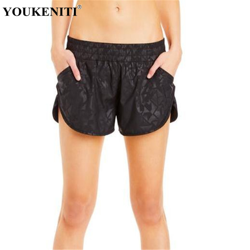 YOUKENITI New Brand High Elastic Yoga Shorts Quick Dry
