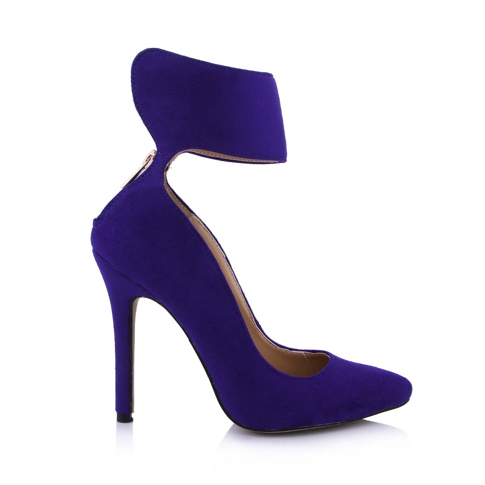 New 2016 Sexy Casual Hot Sale Women Pumps High Heels Sexy Ankle Strap Shoes Party Wedding Pointed Toe Dress Pumps Big Size 35-43 big size hot sale fashion new style ankle strap pumps for women woman party