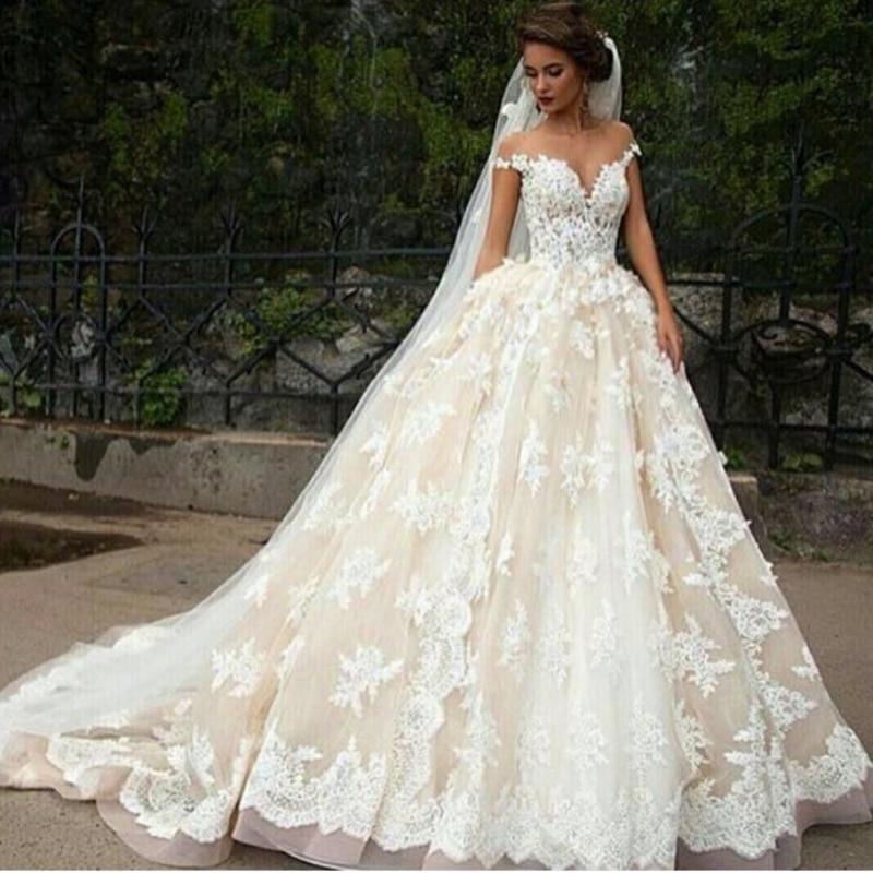 Fl Lace Wedding Dress Fashion Dresses