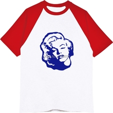 ef2b2868342b Funny Marilyn Monroe Cartoon Print T-shirt Casual Men's Raglan Sleeve T  Shirt Brand Fashion