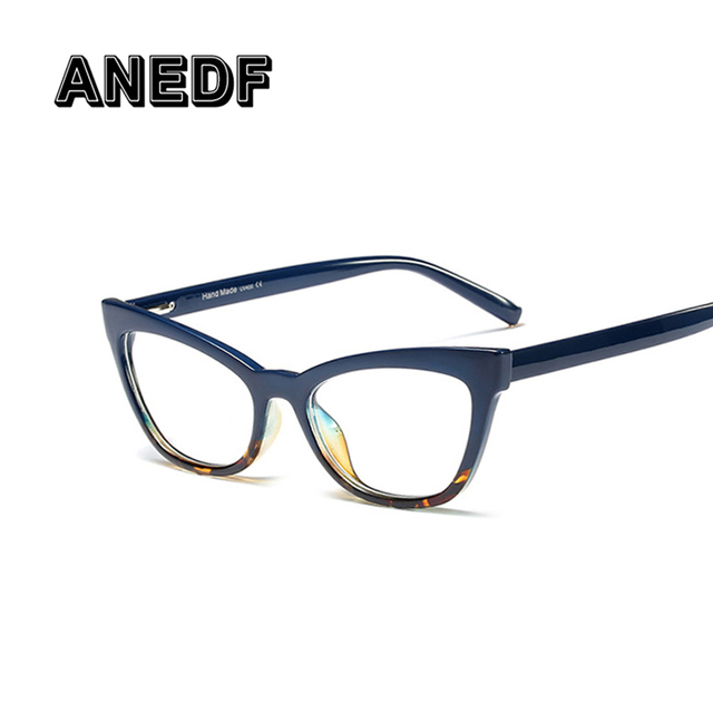 ANEDF New 2019 Design Fashion Women Sexy Cat Eye Small Glasses Frames Men Female Optical Eyewear Computer Glasses