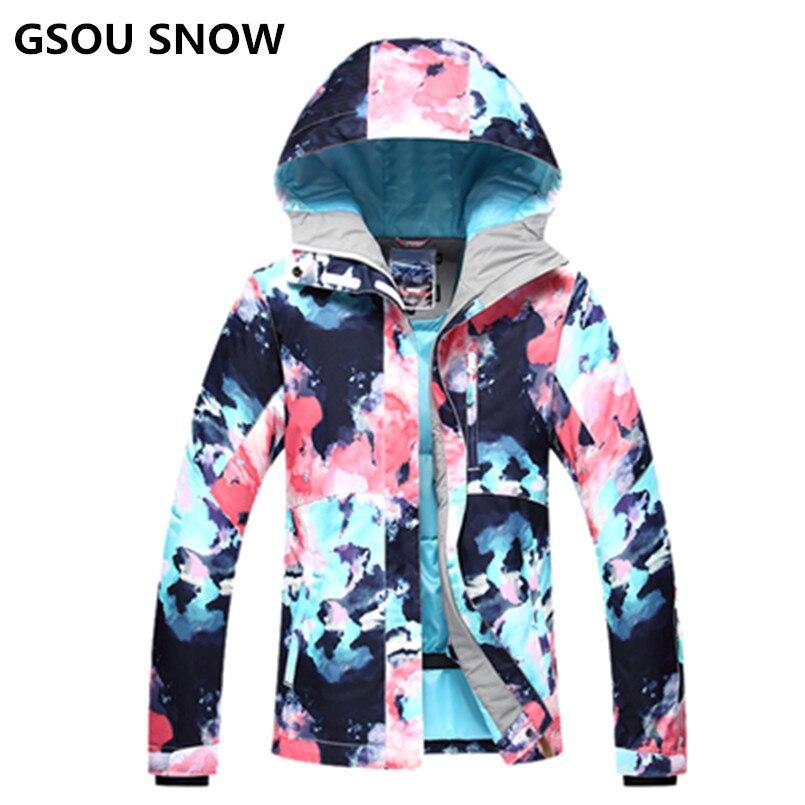 2018 sports d'hiver GS coloré ski veste femmes snowboard veste chaquetas de esqui mujer veste de ski vêtements femme