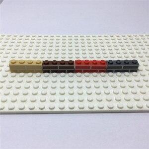 Image 4 - Miasto zamek DIY 100 sztuk/worek 1X4 dom cegły ścienne MOC klocki części kreatywne zabawki dla dzieci