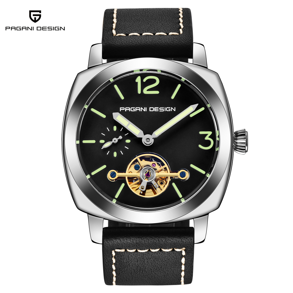 mens watches top brand luxury Automatic Winding Tourbillon Mechanical Watch Sport Military Relogio Automatico Masculino цена