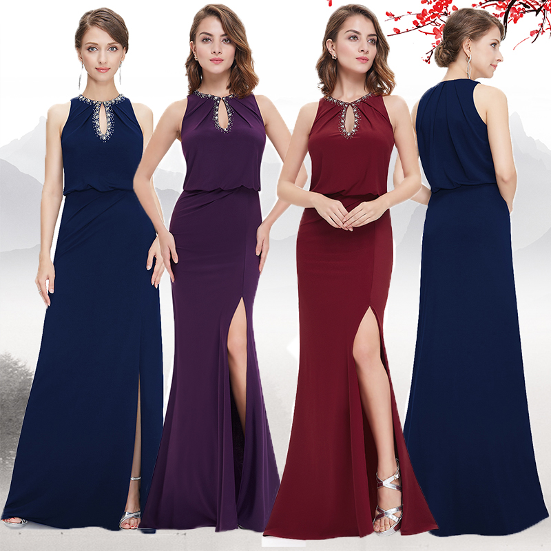 [Clearance Sale] Ever Pretty Women Vintage Evening Dresses Long A Line O Neck Sleeveless Formal Party Evening Dress