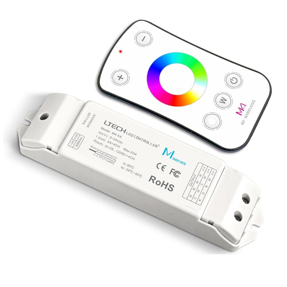 Nuovo Led RGB Controller RGBW M4 Telecomando M4-5A CV Ricevitore 2.4G RF Wireless Remote 5A * 4CH 20A per 5050 3528 RGB Strisce RGBW uso