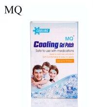 MQ 6 шт./кор. охлаждающий гель лист ребенка лихорадка патч натуральный головная боль, игрушка для снятия стресса, пусковая площадка облегчение мигрени/тепла дискомфорт для детей