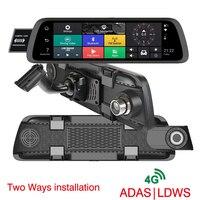 10 дюймов 4G Специальный автомобильный Android DVR камера gps FHD 1080 P Даш камера навигация ADAS видео рекордер двойной объектив зеркало оригинальный кр