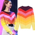 In the spring of 2017 the new star with rainbow striped pullovers knitwear render   c030