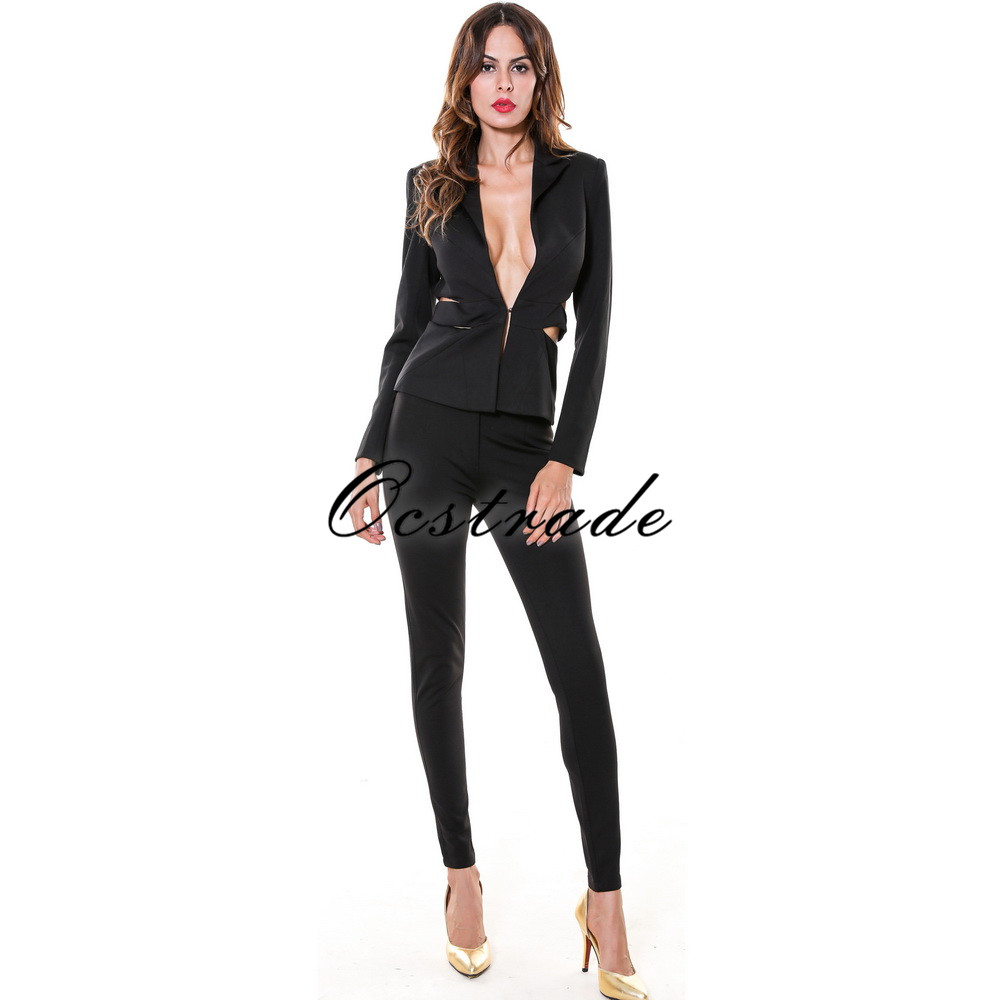 Womanu0026#39;s Fall Fashion Sets 2016 New Fashion Elegant Formal Pants Suits For Weddings-in Pant Suits ...