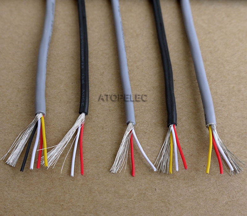 28AWG 2547 UL2547 PVC 2/3/4 Cores Shielded Signal Wire Headphone Cable Cord wire
