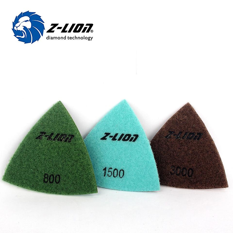 "Z-LION 3"" Triangle Diamond Polishing Pads Traingular Diamond Sanding Pad for Oscillating Multi Tools Renovator Dremel Power Tool"
