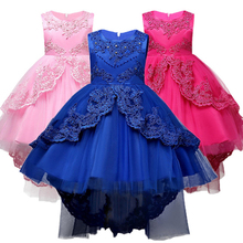 Kids Formal Dress For Girls Clothes Flower Pageant Birthday Party Princess Wedding Dress Girl Clothes 3 5 7 9 11 13 14 years недорого