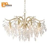 new design luxury crystal chandelier LED light AC110V 220v lustre cristal dinning room living room hanglamp