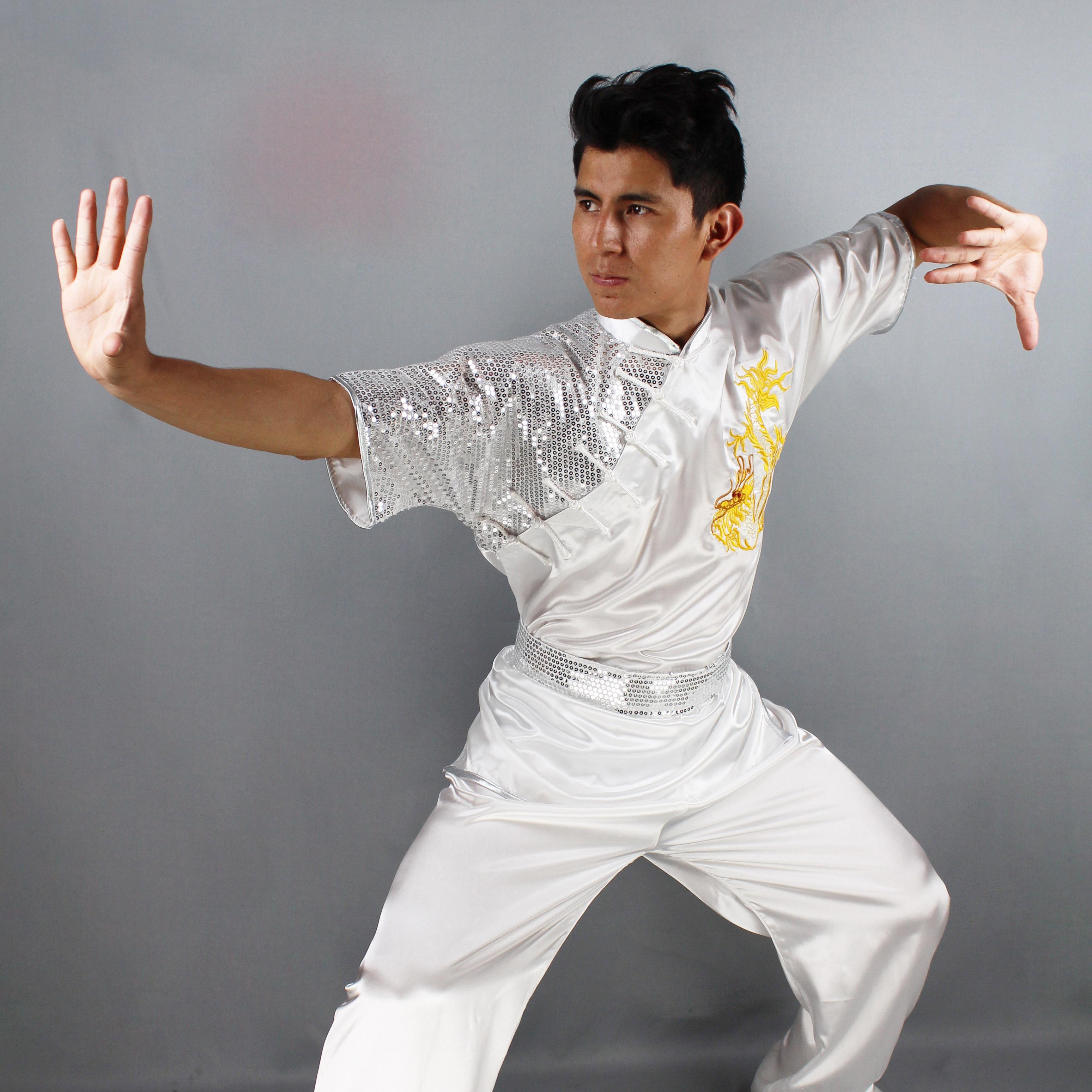 Wushu Stretch Silk Dragon Uniform 5