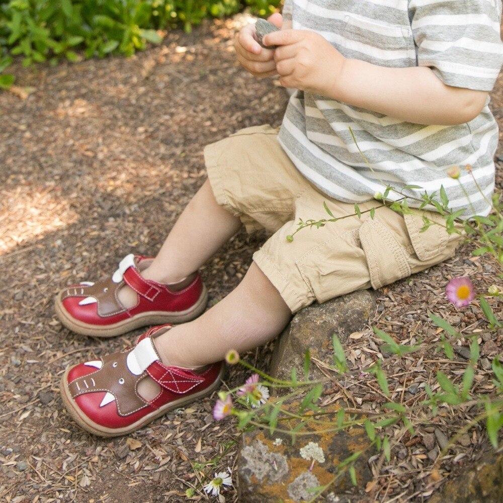 TipsieToes superior calidad de marca de cuero genuino niños bebé niño niña niños elefante zapatos de moda pies zapatillas de deporte - 6