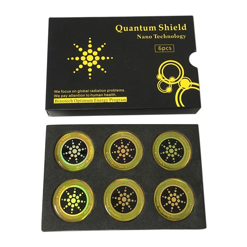 Autocollant de téléphone portable autocollant de bouclier quantique 100 pièces pour la Protection Anti-Radiation de téléphone portable d'emf Fusion Excel Anti-rayonnement - 4
