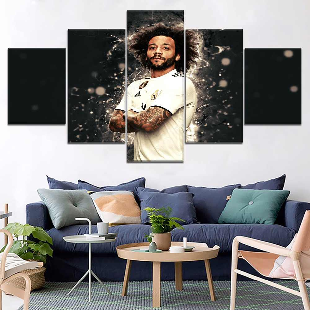 Footballer Marcelo Vieira Sport Painting 5 Piece Modular Style Picture Modern Canvas Print Type Home Decor Wall Artwork Poster