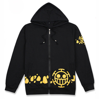 Fashion Anime One Piece Trafalgar Law Hoodies Cotton Print Long Sleeve Autumn&Winter Hoody Casual Zip Sweatshirts Coat