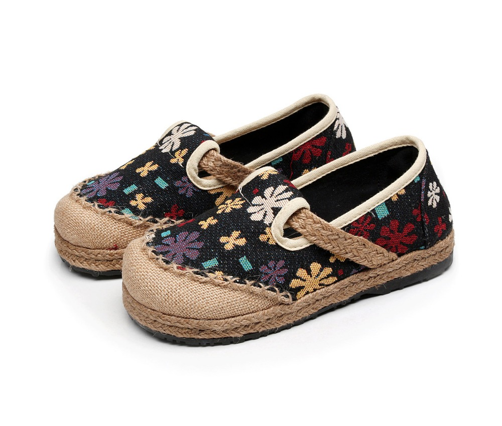 Chaussures Lin Pastorale Floral Profonde Bouche Pêcheur Paille Petit Peu Nouveau Une Coton Et Vent Respirant Pédale D'été Printemps qtgxYOwWXv