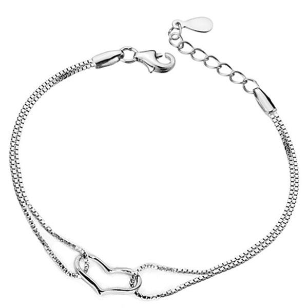 2017 romantic simple bracelet women fine jewelry silver