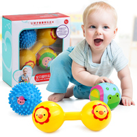 3pc Set Baby Rattle Balls Bebes Musical Educatinal Toy Newborn Baby Classic Toys Soft Ball With