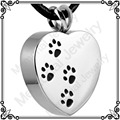 MJD8004 Stainless Steel Ash Pet Urn Pendant, Cremation Jewelry