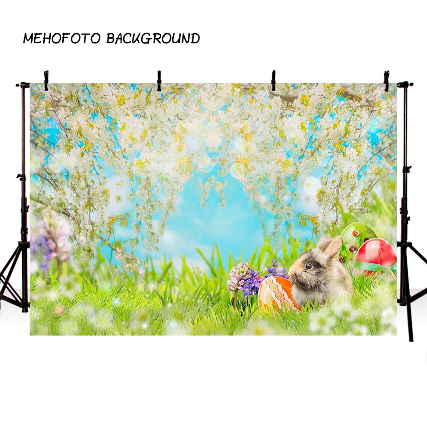 MEHOFOTO New Spring Easter Photography Backdrops Children Photo Background Custom for Photo Studio F-2352 spring background photography for kids photos green screen photography backdrops children photo props custom made backgrounds