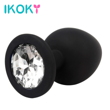 IKOKY Hot Rhinestone Anal Plug S M L Silicone Butt Plug Sex Toys for Men Woman