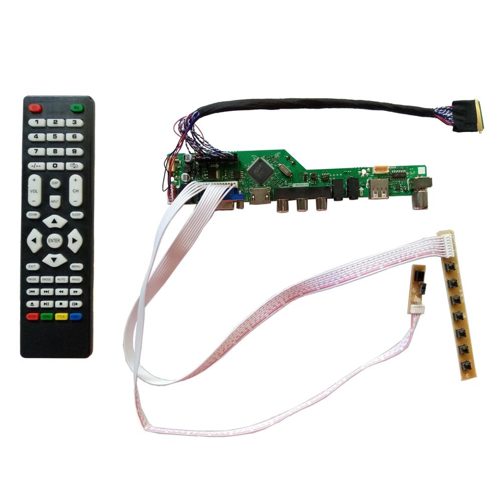 T.V56.031 새로운 보편적 인 HDMI USB AV VGA ATV PC LCD 관제사 널 15.6inch 1366x768를위한 N156B6-L0B LED LVDS 감시자 장비