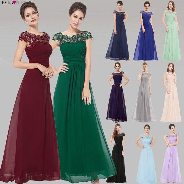 Vestidos de noite Da Moda Sempre Bonita Roxo EP09993 Chiffon Abrir Voltar Elegante Longo 2019 Alta Qualidade Ocasião Formal Partido Vestidos
