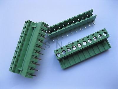 50 pcs 5.08mm Angle 10 pin Screw Terminal Block Connector Pluggable Type Green 50 pcs 5 08mm angle 6 pin screw terminal block connector pluggable type green