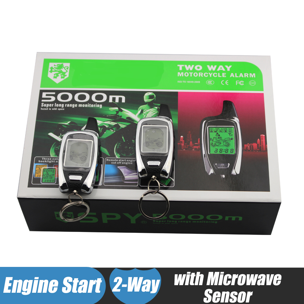 Spy Two Way Motorcycle Alarm System Lcd Remote Control