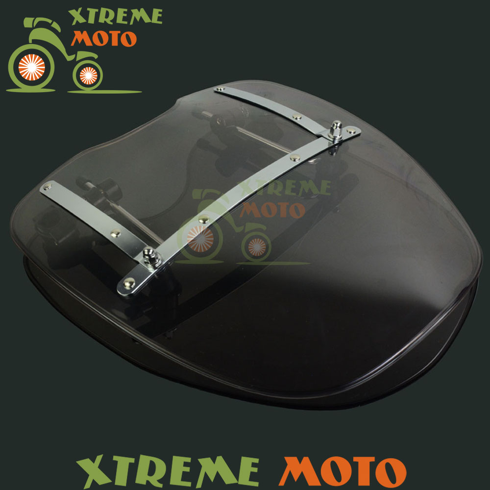 17 Windscreen Windshield For Harley Dyna Super Glide Low Rider SoftailRoadster Sportster FX FXE XL XLH 883 1200 XR 1000 FXST
