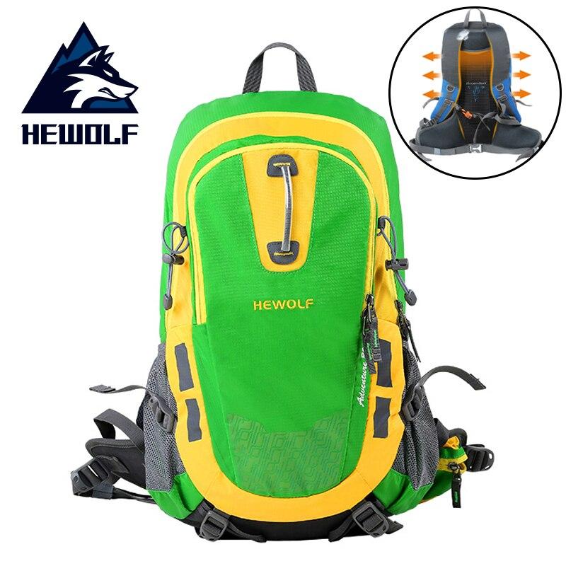 Hewolf 30L randonnée en plein air sac à dos housse de pluie sac multifonctionnel Camping escalade sac dos respirant voyage hommes femmes sac à dos