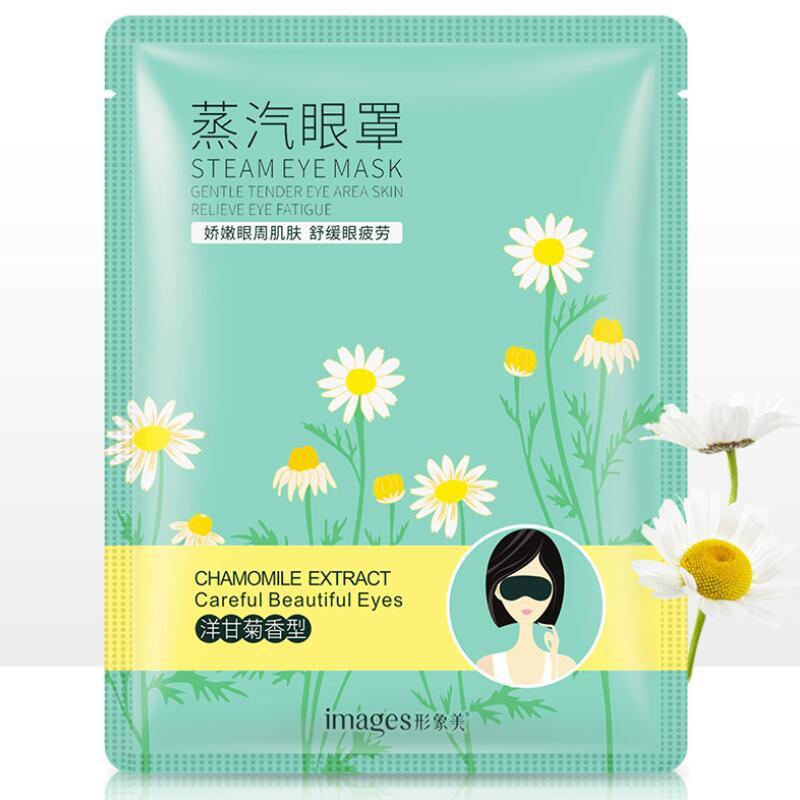 Images Chamomile Steam Warm Eye Mask Dark Circle Eye Bags Eliminate Puffy Wrinkles Anti Aging Eyes Fine Line