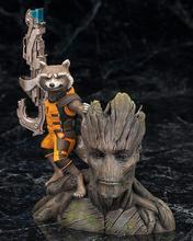 ARTFX+ Marvel Guardians of The Galaxy Avengers Rocket Raccoon & TreeMan Ver Action Figure Toys 16cm