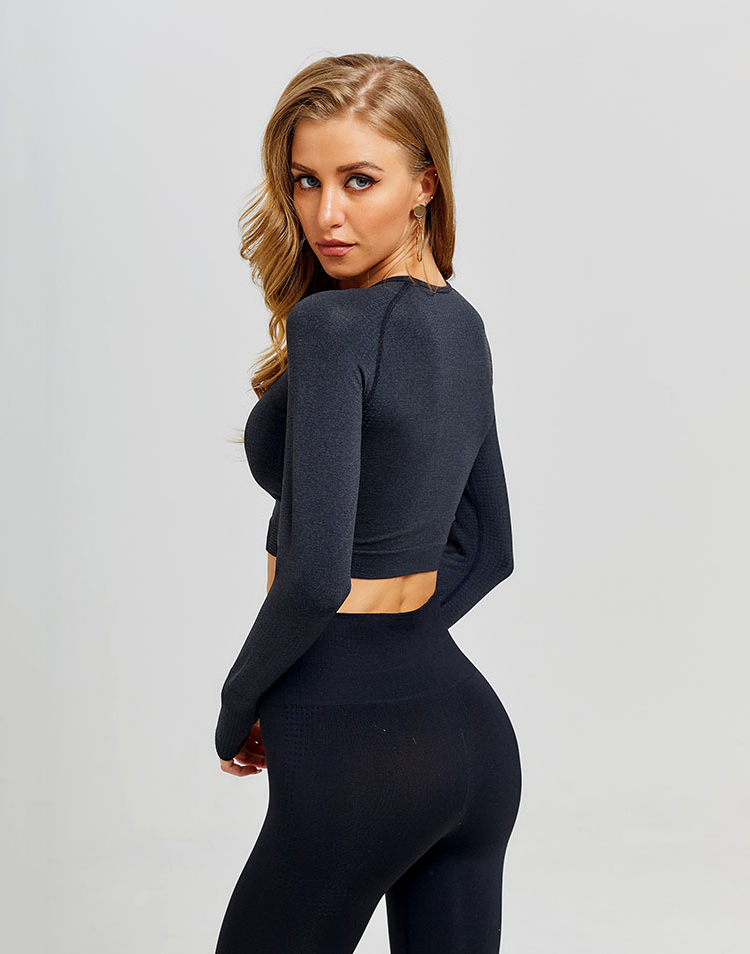 Seamless Long Sleeve Yoga Fitness Top