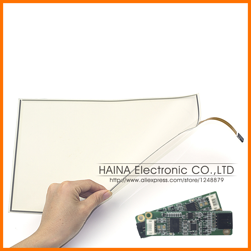 Flexible Industrial 18.5 Inch includes USB Controller 4 Wire Pellicle Resistive Touch Screen Panel For photo kiosk/Laptop
