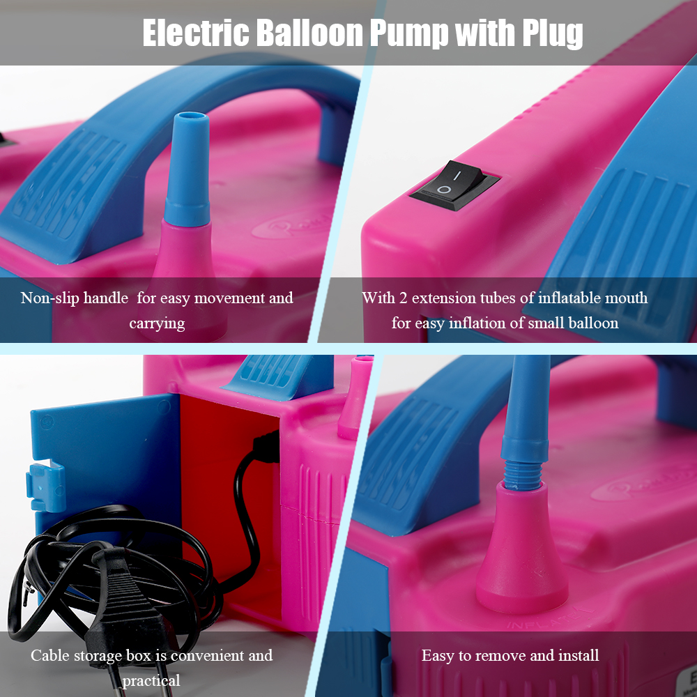 Image 3 - 110V/220V Electric High Power Inflating Two Nozzle Air Blower Fast Portable Inflatable Tool Electric Balloon Inflator Pump-in Blowers from Tools on