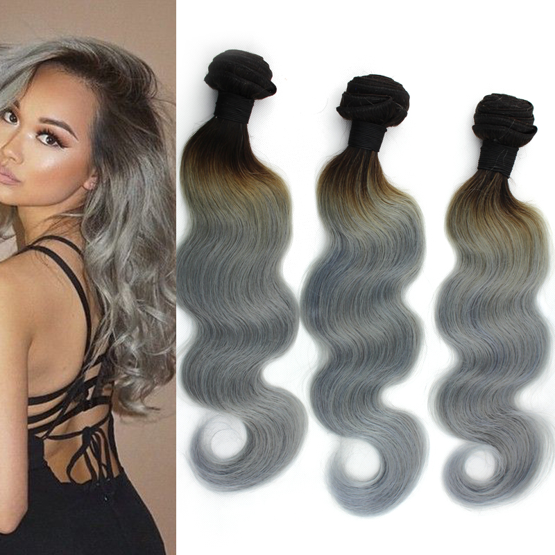7a top quality 1b grey brazilian body wave silver grey ombre hair 7a top quality 1b grey brazilian body wave silver grey ombre hair extensions 3pcs black gray bundles two tone human hair weave in hair weaves from hair pmusecretfo Images