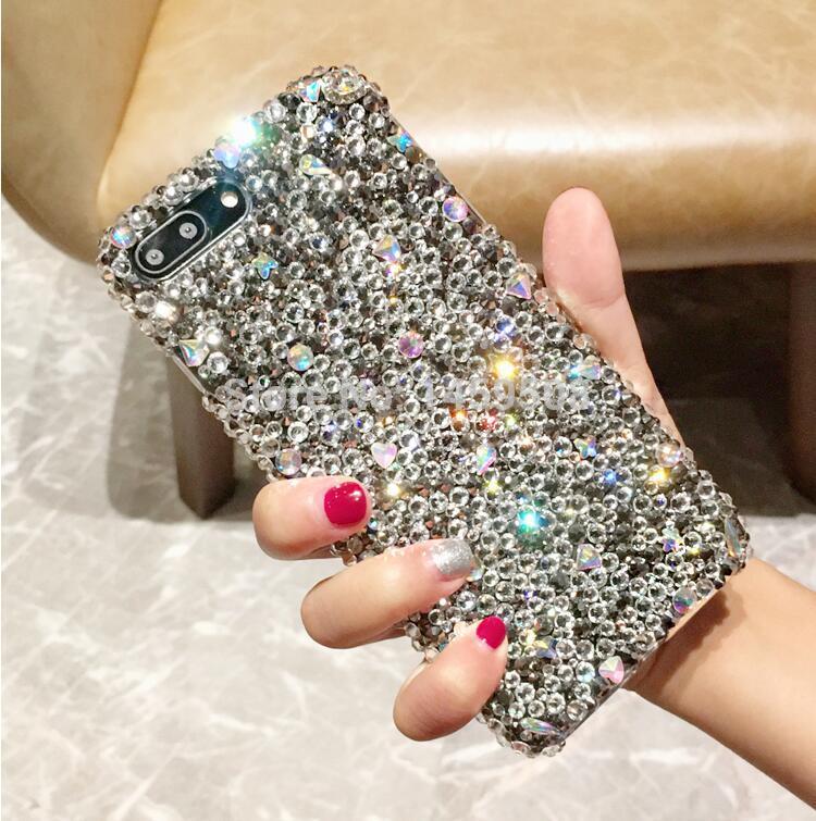 Для Motorola Moto Z Z2 Z3 Play Force G4 G5 G5S G6 G7 Мощность E5 X4 плюс Чехол со стразами ручной работы полный серый Алмазный чехол для iPhone X
