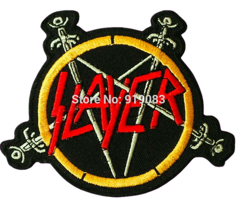 SLAYER WITH SPADES,SEW ON EMBROIDERED PATCH