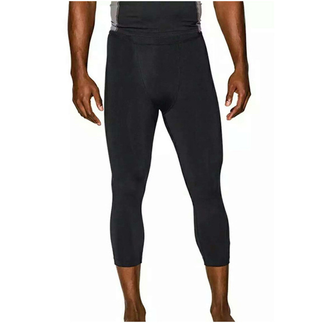 Tight Pants casual fitness calf-Length pants pro skinny pants leggings compression male fast-drying trousers Slim Sweatpants