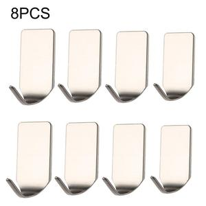 Image 1 - Hot Sale 8 Pieces /Set Stainless Steel 3M Self Adhesive Sticky Hooks Wall Storage Hanger New Wholesale Dropshopping Support