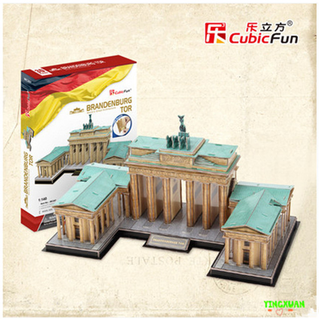 Cubicfun 3D Головоломки Игрушки 150 ШТ. Бранденбург Тор Ворота Модель MC207h детский Подарок