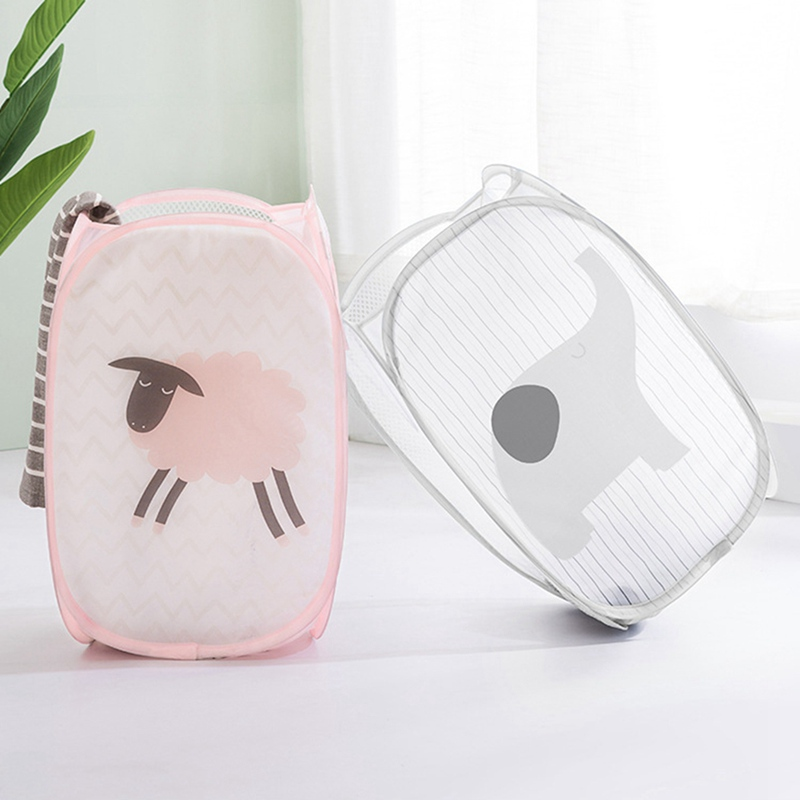 Cartoon Hamper Folding Laundry Basket Household Dirty Clothes Storage Basket For Dirty Clothing