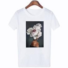 FIXSYS Harajuku Women T Shirt Lady Summer Tops Tee Print Short Sleeve Shirts Fashion Casual T-shirt White Femme t-Shirts