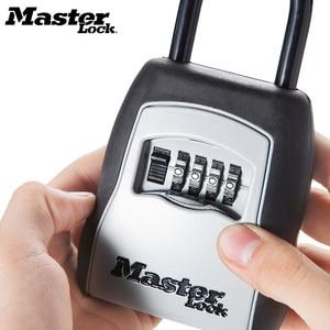 Image 1 - Ящик для хранения ключей Master Lock, открытый сейф для ключей, ящик для хранения ключей, замок с паролем, сплав материала, крючки для ключей, защитные Органайзеры