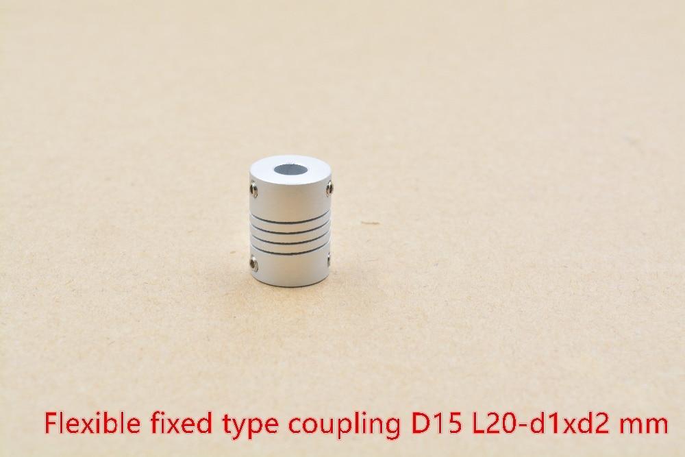 D15 L20 hole minimum 2mm maximum 8mm shaft coupler flexible coupling stepper motor encode for linear shaft optical axis 1pcs